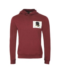 Kent & Curwen Mens Red 1926 Hoody