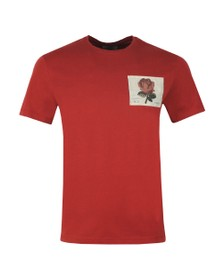 Kent & Curwen Mens Red Rose 1926 Icon T Shirt