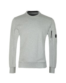 C.P. Company Mens Grey Detailed Neck Crew Neck Sweatshirt