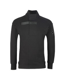 C.P. Company Mens Black Turtle Neck Tape Sweat
