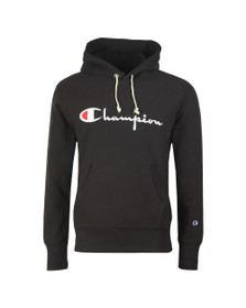 Champion Reverse Weave Mens Black Script Logo Overhead Hoody