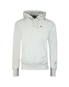 Champion Reverse Weave Mens Grey Small Logo Overhead Hoody