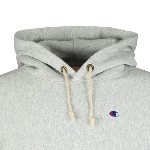 Champion Reverse Weave Mens Grey Small Logo Overhead Hoody main image