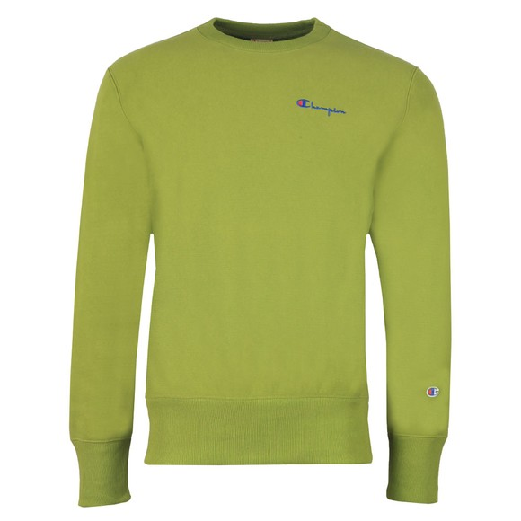 Champion Reverse Weave Mens Green Small Script Logo Sweatshirt main image