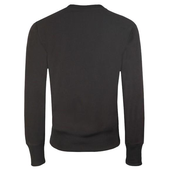 Champion Reverse Weave Mens Black Small Script Logo Sweatshirt main image