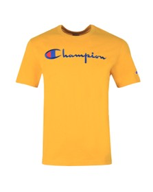 Champion Reverse Weave Mens Gold Script Logo T-Shirt