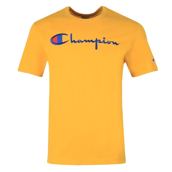 Champion Reverse Weave Mens Gold Script Logo T-Shirt main image