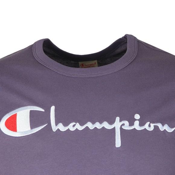 Champion Reverse Weave Mens Purple Script Logo T-Shirt main image