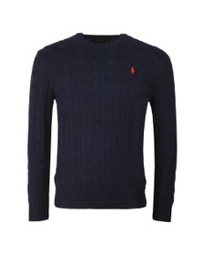 Polo Ralph Lauren Mens Blue Cable Knit Jumper