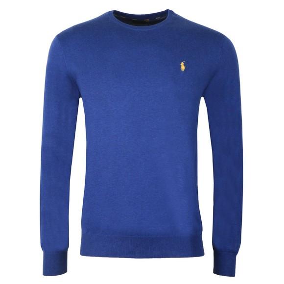 Polo Ralph Lauren Mens Blue Crew Neck Cotton Knitted Jumper