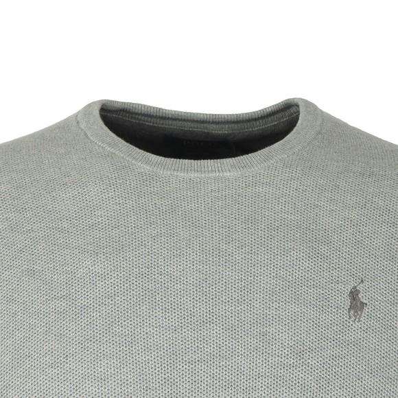 Polo Ralph Lauren Mens Grey Waffle Crew Neck Sweatshirt
