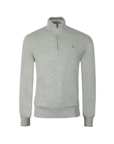 Polo Ralph Lauren Mens Grey Waffle Half Zip Sweat