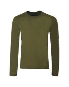 Polo Ralph Lauren Mens Green Crew POLO Sleeve Long Sleeve Top