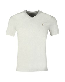 Polo Ralph Lauren Mens Beige Custom Slim Fit V Neck T Shirt