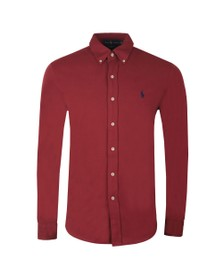 Polo Ralph Lauren Mens Red Featherweight Mesh Shirt
