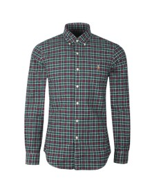 Polo Ralph Lauren Mens Green Classic Check Button Down Shirt