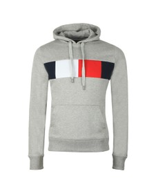 Tommy Hilfiger Mens Grey Flag Chest Insert Hoodie