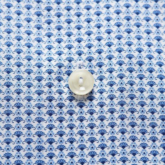 Eton Mens Blue Multi Floral Pattern Shirt main image