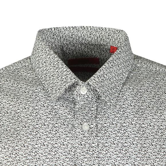 HUGO Mens White Elisha02 Long Sleeve Shirt