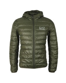 EA7 Emporio Armani Mens Green Light Down Jacket