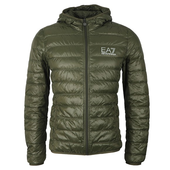 EA7 Emporio Armani Mens Green Light Down Jacket main image