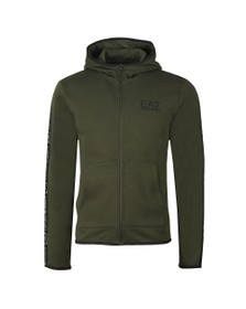 EA7 Emporio Armani Mens Green Full Zip Hooded Sweat