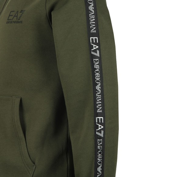 EA7 Emporio Armani Mens Green Full Zip Hooded Sweat main image