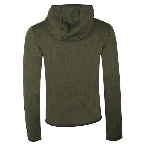 EA7 Emporio Armani Mens Green Full Zip Hooded Sweatshirt main image