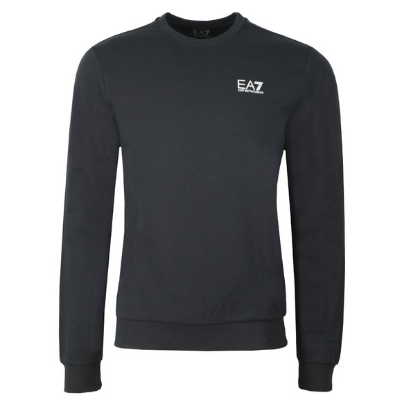 EA7 Emporio Armani Mens Blue Logo Sweat main image