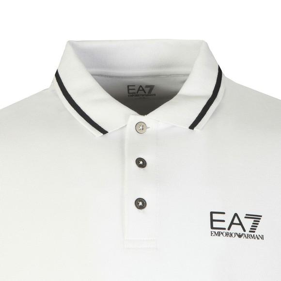 EA7 Emporio Armani Mens White Tipped Logo Polo main image