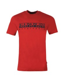 Napapijri Mens Red Serber Tee