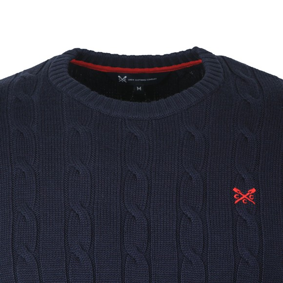 Crew Clothing Company Mens Blue Regatta Cable Crew Jumper main image