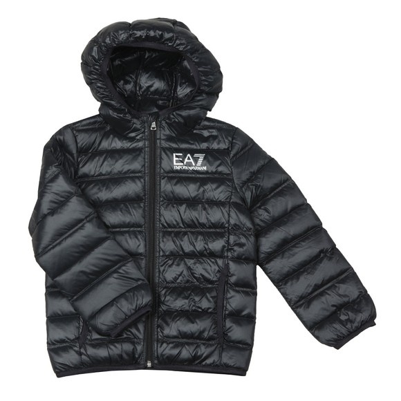 EA7 Emporio Armani Boys Black Down Puffer Jacket main image