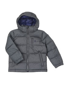 Polo Ralph Lauren Boys Grey Boys Detachable Hood Puffer