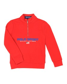 Polo Ralph Lauren Sport Boys Red Boys Half Zip Sweatshirt
