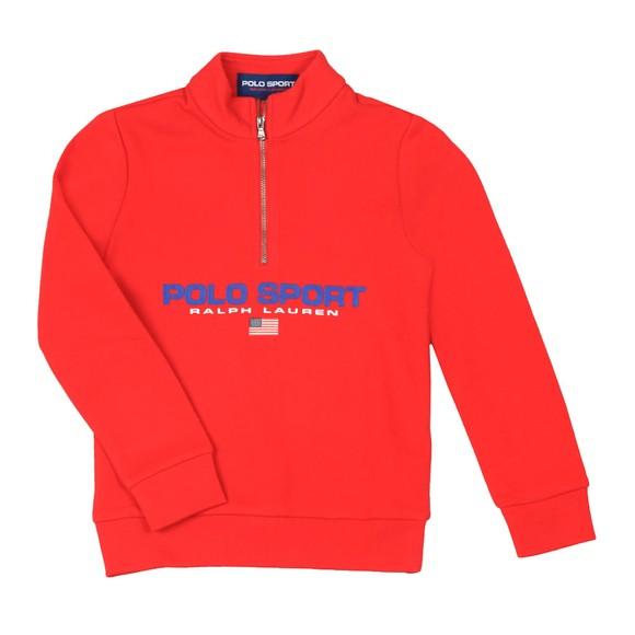 Polo Ralph Lauren Sport Boys Red Boys Half Zip Sweatshirt