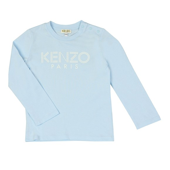 Kenzo Kids Boys Blue Sport Logo Crew T Shirt main image
