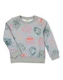 Kenzo Kids Girls Grey Ghita Crazy Jungle Sweatshirt