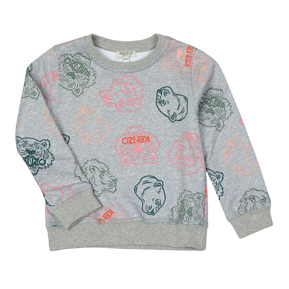 Kenzo Kids Girls Grey Ghita Crazy Jungle Sweatshirt main image