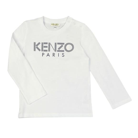 Kenzo Kids Boys White Sport Logo Crew T Shirt main image
