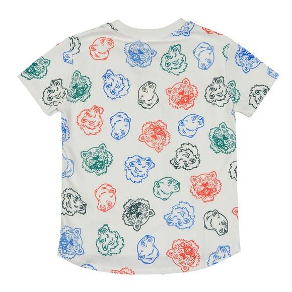 Kenzo Kids Boys White Gregor Crazy Jungle T Shirt