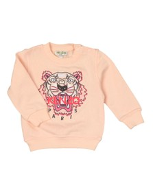 Kenzo Baby Girls Pink Embroidered Tiger Sweatshirt