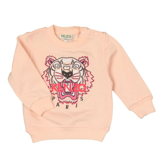 Kenzo Baby Girls Pink Embroidered Tiger Sweatshirt main image