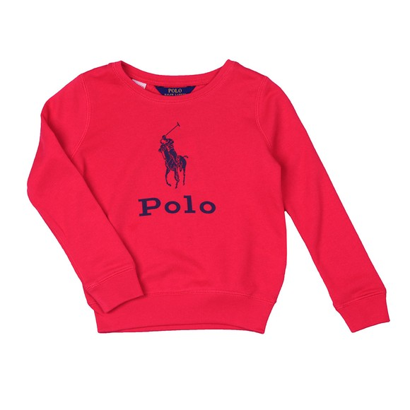 Polo Ralph Lauren Girls Pink Girls Big Logo Sweatshirt