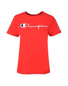 Champion Reverse Weave Womens Multicoloured Large Script Logo T Shirt