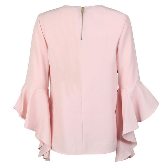 Ted Baker Womens Pink Shannia Raspberry Ripple Peplum Top main image