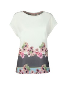 Ted Baker Womens Off-White Twixie Neopolitan Woven T-Shirt