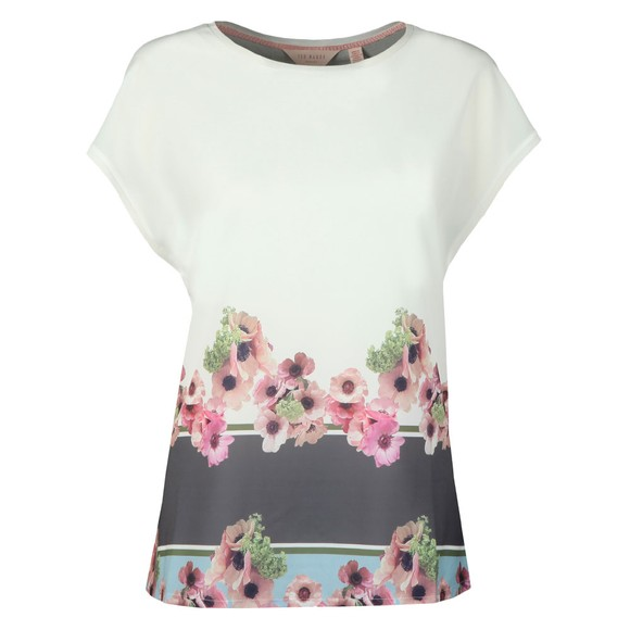 Ted Baker Womens Off-White Twixie Neopolitan Woven T-Shirt main image