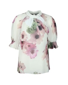 Ted Baker Womens Off-White Cayliee Neopolitan Sleeve Top