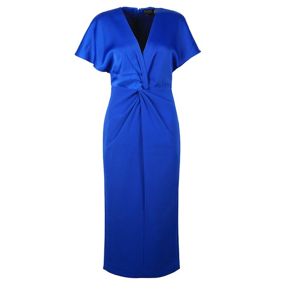 Ted Baker Womens Blue Ellame Wrap Over Full Dress main image